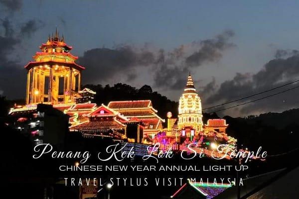 Penang Kek Lok Si Temple Annual Chinese New Year Light Up